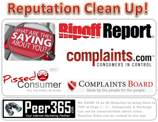 Reputation Clean Up | Online Reputation Clean Up | Reputation Management Services | SEO Houston | Houston SEO | Peer365.com